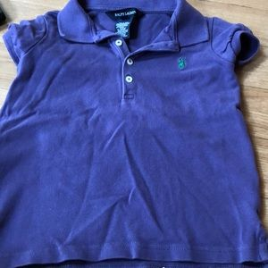 Cute purple and green polo shirt size 5